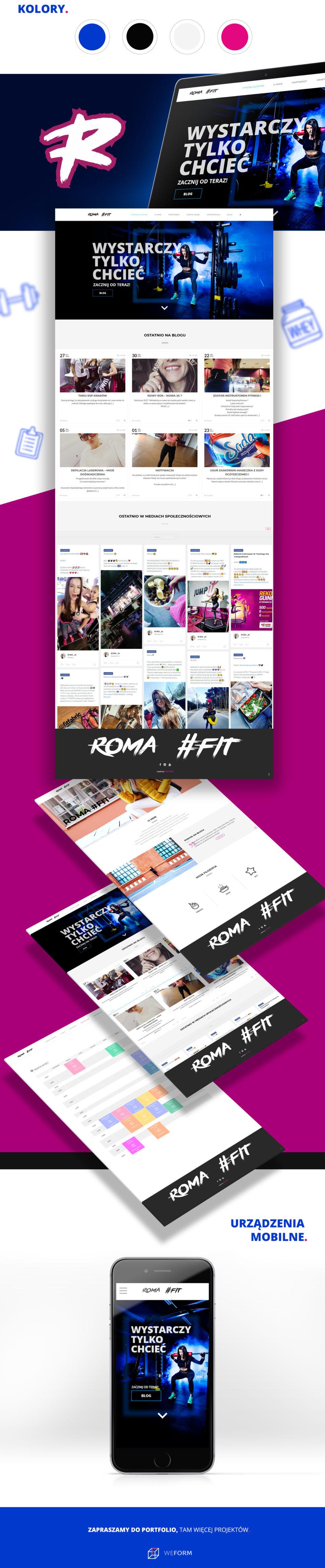 Strona internetowa RomaFIT
